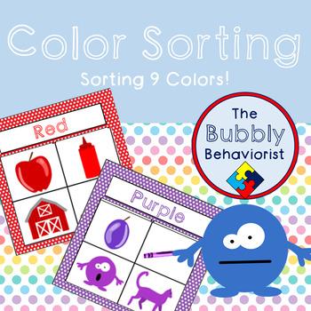 Color Sorting Task Cards/File Folder Game
