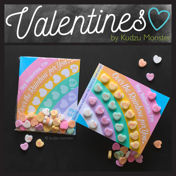 Color Sorting and Counting Valentine for Conversation Heart Candies