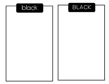 Color Sorting Mats FREEBIE - black line