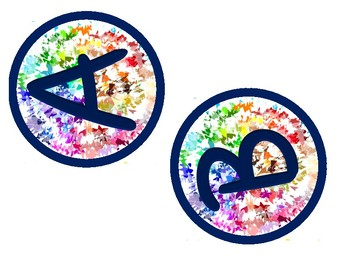 Letters & Numbers in Color Splash TWO Sizes
