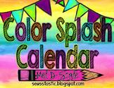Watercolor Calendar (Color Splash)