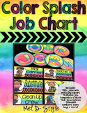 Watercolor Classroom Jobs (Editable)