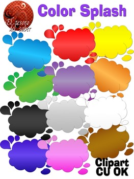 Color Splash Clipart - Commercial Use OK