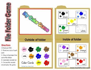 Color Splash File Folder Game 2013