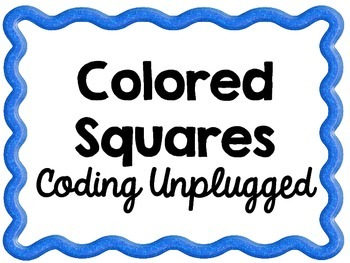 Color Squares ~ Coding Unplugged Challenge ~ STEM