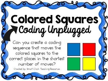 Color Squares ~ Coding Unplugged Challenge ~ STEM