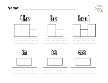 Color Stamp Write sight words 1