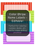 Color Stripe Name Labels - Editable!