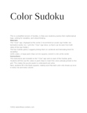 Color Sudoku Center (Word version)