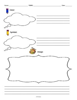 Color, Symbol, Image Graphic Organizer **Making Thinking Visible Aligned**