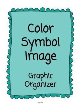 Color, Symbol, Image Graphic Organizer **Making Thinking V