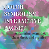 Color Symbolism Packet - Coloring Book and Activities