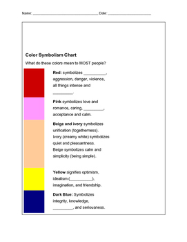 Color Symbolism Powerpoint & Graphic Organizer