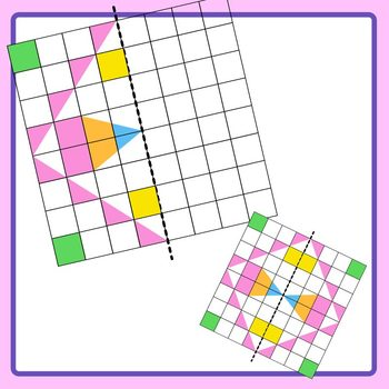 Color Symmetry Grids with Patterns or Shapes with Answers Clip Art Commercial Us