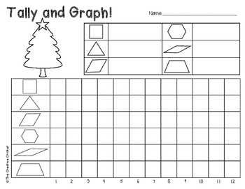 Color, Tally, and Graph Pattern Blocks - Christmas Tree Style!