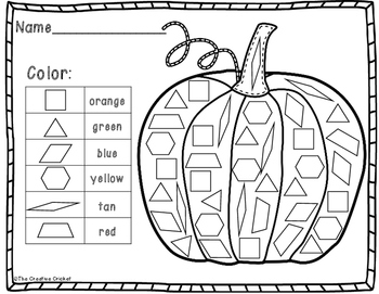 Color, Tally, and Graph Pattern Blocks - Pumpkin Style!