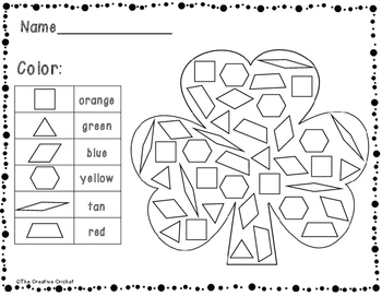 Color, Tally, and Graph Pattern Blocks - Shamrock/St. Patrick's Day Style!