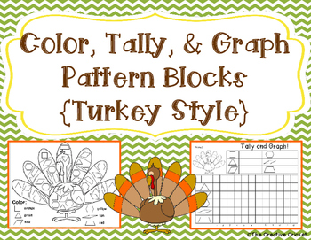 Color, Tally, and Graph Pattern Blocks - Thanksgiving Turkey Style!