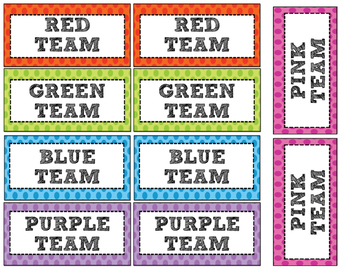 Color Team Cards