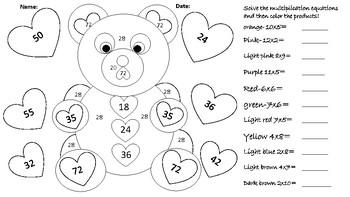 Color-Teddy Bear-Multiplication Bilingual