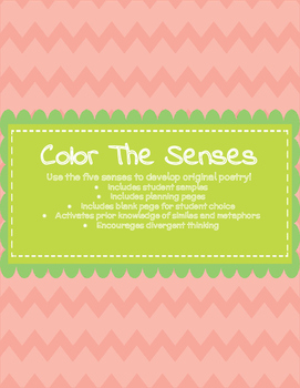 Color The Senses: Using Sensory Details, Metaphors, & Similes in Poetry