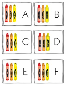 Color Themed Alphabet Read and Write the Room