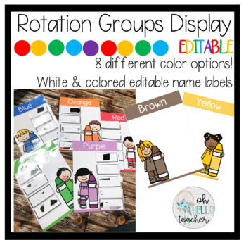 Color Themed Rotation and Group Display | EDITABLE