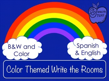 Color Themed Write the Rooms