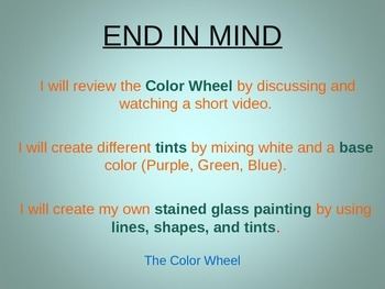 Second Grade Color Theory Project-Tints