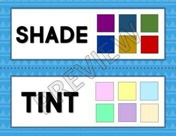 Color Theory Art Vocabulary
