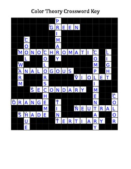 Color Theory Crossword