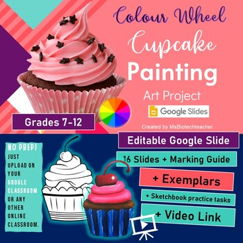 Color Theory Cupcake Painting