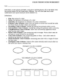 Color Theory Intro Worksheet