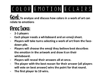 Color Theory Learning Menu Lesson