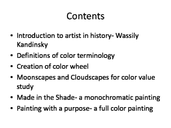 Color Wheel and Tints and Shades and fun Abstract Paintings