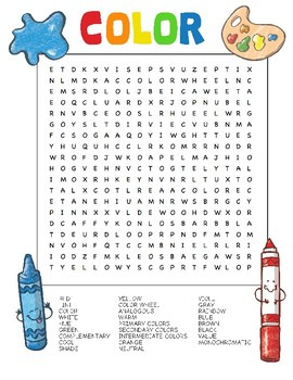 Word search art class