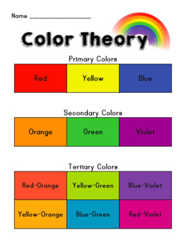 Color Theory Worksheet!