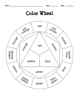 image regarding Printable Color Wheel Worksheet titled Colour Principle Worksheet Lecturers Pay out Academics
