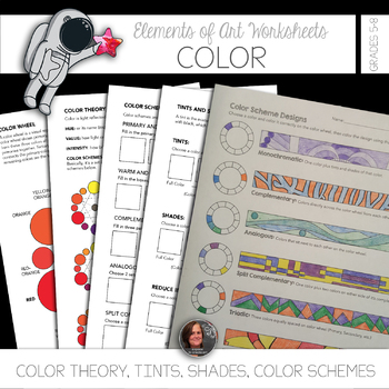 Elements of Art Worksheets Color & Mini Lessons - Color Scheme Worksheets