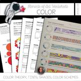 Element of Color & Art Mini Lessons - Color Scheme Worksheets