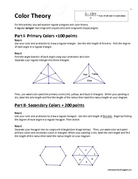 Color Theory through Regular Polygons