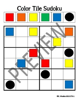 Color Tile Sudoku