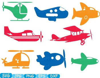 Color Toys Plane clip art svg Silhouette Studio toy navy war army airplane -293s