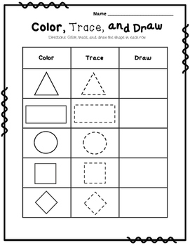 Color, Trace, & Draw Shapes