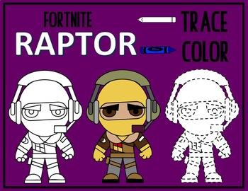 Color & Trace - FORTNITE RAPTOR