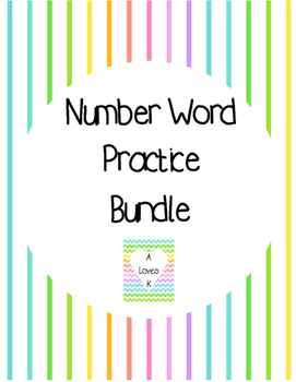 Color, Trace, Glue: Number Word Practice