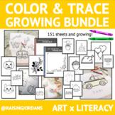 Color & Trace Pages GROWING Bundle