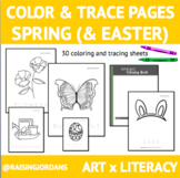 Color & Trace Pages: Spring (and Easter)
