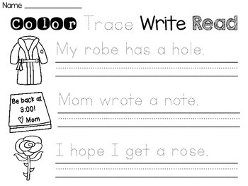 Long Vowels Sentence Writing Practice Worksheets
