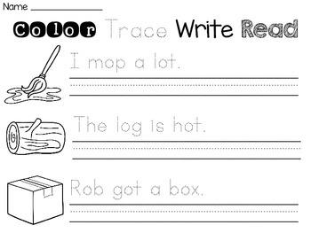 Short Vowels Sentence Writing Worksheets